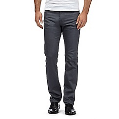 Hammond & Co. by Patrick Grant - Big and tall grey raw denim silm fit jeans