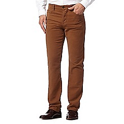 Hammond & Co. by Patrick Grant - Big and tall designer tan moleskin 5 pocket trousers