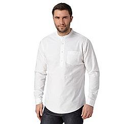 Hammond & Co. by Patrick Grant - Designer white textured grandad shirt