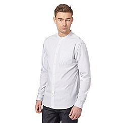 Hammond & Co. by Patrick Grant - Big and tall designer white striped grandad shirt