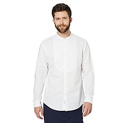 Hammond & Co. by Patrick Grant - Big and tall designer 'Hayden' white bib front grandad shirt