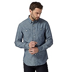Hammond & Co. by Patrick Grant - Big and tall designer blue chambray shirt