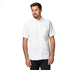 Hammond & Co. by Patrick Grant - Big and tall designer white linen blend shirt