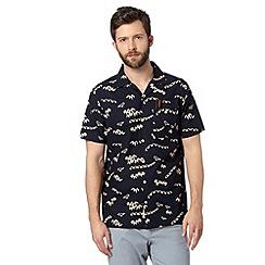 Hammond & Co. by Patrick Grant - Big and tall designer navy 'Sackville' hawaiian short sleeved shirt