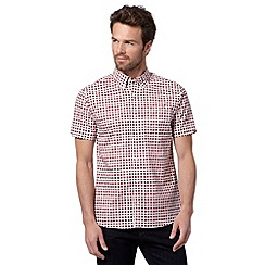 Hammond & Co. by Patrick Grant - Red square print shirt