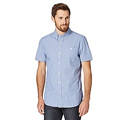 Hammond & Co. by Patrick Grant - Big and tall light blue textured short sleeved shirt