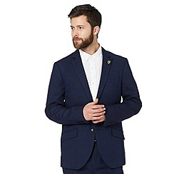 Hammond & Co. by Patrick Grant - Big and tall designer navy 'Chiltern' textured blazer