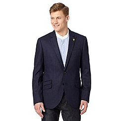 Hammond & Co. by Patrick Grant - Big and tall designer navy 'Railroad' pinstriped blazer