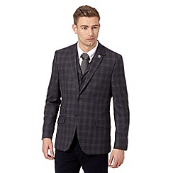 Hammond & Co. by Patrick Grant - Big and tall designer navy 'Carver' checked blazer