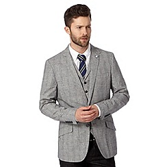 Hammond & Co. by Patrick Grant - Designer light grey 'Boswell' checked blazer