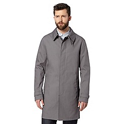 Hammond & Co. by Patrick Grant - Big and tall designer 'Ledbury' grey hooded mac coat