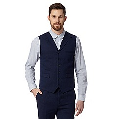 Hammond & Co. by Patrick Grant - Big and tall designer navy 'Chiltern' textured waistcoat