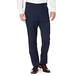Hammond & Co. by Patrick Grant - Designer navy 'Chiltern' textured tailored trousers