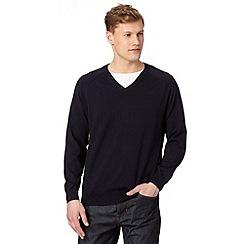 Hammond & Co. by Patrick Grant - Designer navy V neck jumper