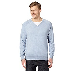 Hammond & Co. by Patrick Grant - Big and tall designer light blue v neck jumper