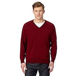 Hammond & Co. by Patrick Grant - Designer maroon V neck jumper