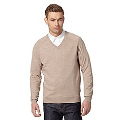 Hammond & Co. by Patrick Grant - Big and tall designer natural v neck jumper