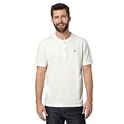 Hammond & Co. by Patrick Grant - Designer white 'Rye' button neck t-shirt