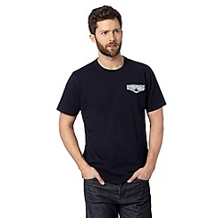 Hammond & Co. by Patrick Grant - Big and tall designer navy flap pocket crew neck t-shirt
