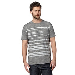 Hammond & Co. by Patrick Grant - Big and tall designer grey 'Jaspe' striped pocket t-shirt