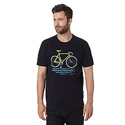 Hammond & Co. by Patrick Grant - Designer navy 'Rainbow' bike graphic t-shirt
