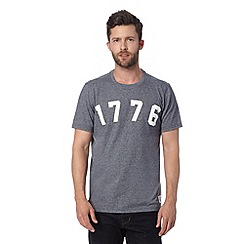 Hammond & Co. by Patrick Grant - Grey 1776 'Marl' graphic t-shirt
