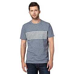Hammond & Co. by Patrick Grant - Big and tall designer blue striped crew neck t-shirt