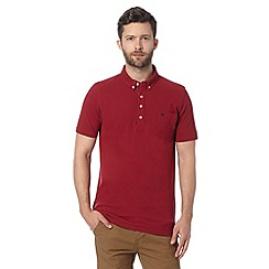 Hammond & Co. by Patrick Grant - Big and tall designer red cotton polo shirt