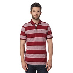 Hammond & Co. by Patrick Grant - Designer red 'Bailey' block striped polo shirt