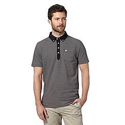 Hammond & Co. by Patrick Grant - Designer navy striped woven polo shirt