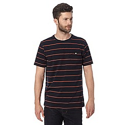 Hammond & Co. by Patrick Grant - Big and tall designer navy striped pocket crew t-shirt