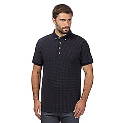 Hammond & Co. by Patrick Grant - Big and tall designer navy pin dot pique polo shirt
