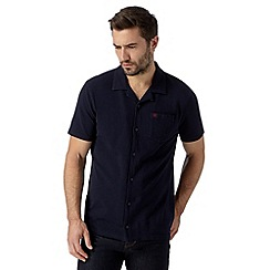 Hammond & Co. by Patrick Grant - Navy cotton button through polo shirt