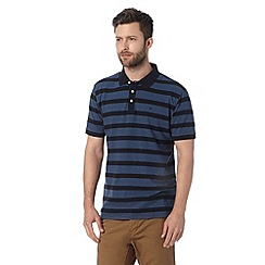 Hammond & Co. by Patrick Grant - Big and tall designer navy textured striped polo shirt