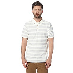 Hammond & Co. by Patrick Grant - Big and tall designer white textured striped polo shirt