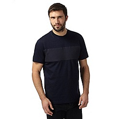 Hammond & Co. by Patrick Grant - Big and tall designer navy mercerised crew neck t-shirt