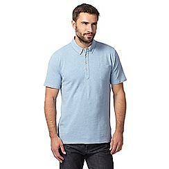 Hammond & Co. by Patrick Grant - Light blue textured polo shirt