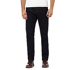 Hammond & Co. by Patrick Grant - Dark blue rinsed tailored fit jeans