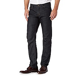 Hammond & Co. by Patrick Grant - Big and tall designer dark blue wash tailored fit jeans