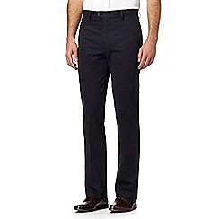 Hammond & Co. by Patrick Grant - Big and tall designer navy tailored smart chinos