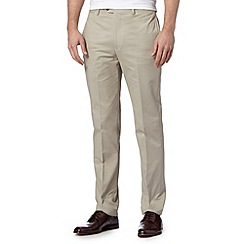 Hammond & Co. by Patrick Grant - Big and tall designer natural 'Atlas' smart straight leg chinos