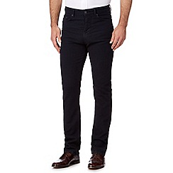 Hammond & Co. by Patrick Grant - Big and tall navy cotton stretch tailored fit jeans