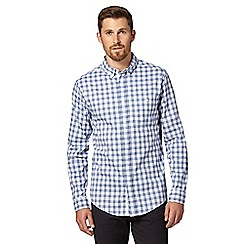 Hammond & Co. by Patrick Grant - Big and tall designer blue double checked shirt