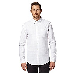Hammond & Co. by Patrick Grant - Big and tall designer white fine checked shirt