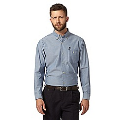Hammond & Co. by Patrick Grant - Big and tall designer blue smart chambray shirt