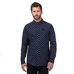 Hammond & Co. by Patrick Grant - Big and tall navy flower print shirt