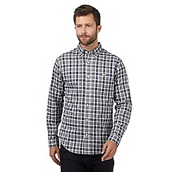Hammond & Co. by Patrick Grant - Big and tall grey checked long sleeved shirt