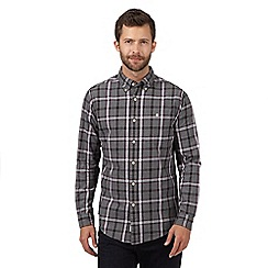 Hammond & Co. by Patrick Grant - Big and tall grey checked cotton shirt