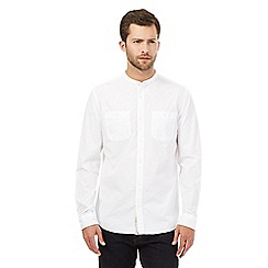 Hammond & Co. by Patrick Grant - Big and tall white grandad shirt