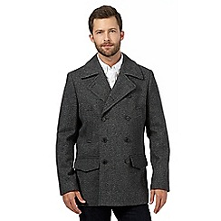 Hammond & Co. by Patrick Grant - Big and tall grey wool blend pea coat